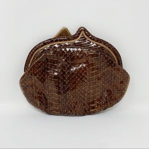 VTG Python Snakeskin Evening Bag